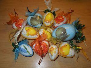 Decoupage Anhänger Ostern fertig