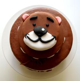 Grübchenbär Torte Closeup