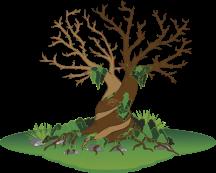 Fertigter Fingerprintbaum ohne Beschriftung