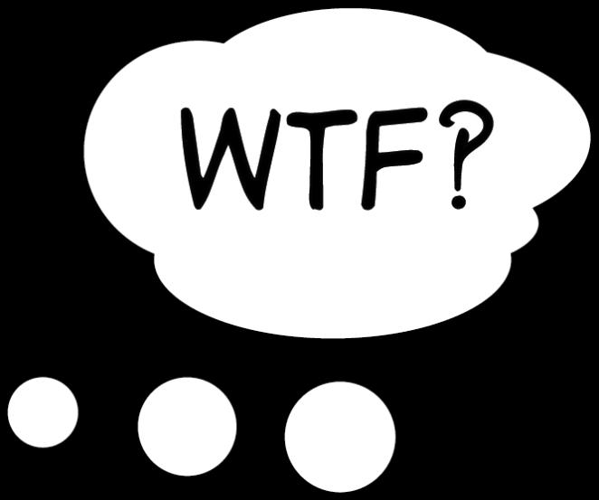 WTF - Gedankenblase Illustrator