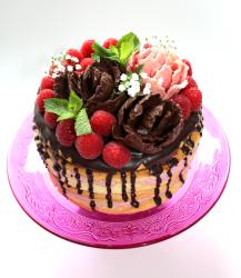 Naked Cake - Himbeer Schoko