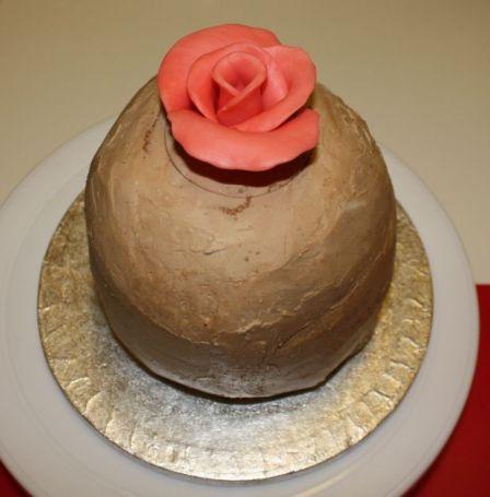 Rosentorte - Blütenmitte