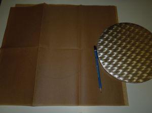 Form auf Backpapier übertragen