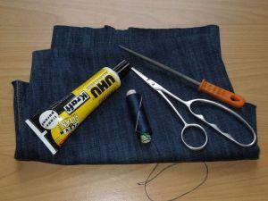 Jeansstoff u.a. Material