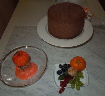 Herbsttorte - Deko Vorbereitung