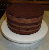 Brownie-Nutella-Torte naked