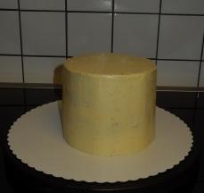 WeißeSchoki-Himbeer-Torte ganachiert