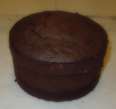 Brownie Böden gestapelt