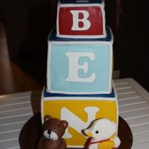 Torte Spielwürfel Bär Nachziehente Fondant Ben 1. Geburtstag
