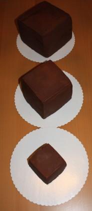 Torten quadratisch klein mittel und groß ganachiert